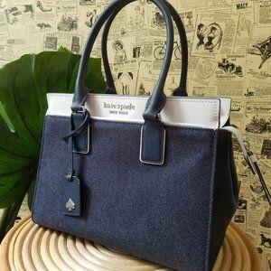Kate Spade cameron medium satchel Denim colorblock